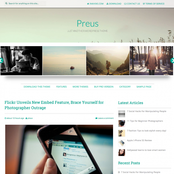Preus WordPress Theme