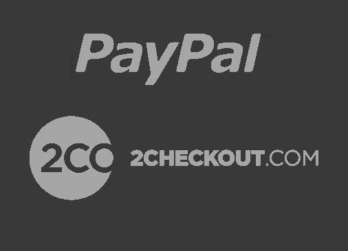 Paypal & 2CO Logo